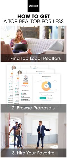UpNest is fast, free and by far the best way to hire local realtors. Whether you're selling or buying a home, UpNest selects the best agents in your area and gets them to compete for your business. There's no risk, no cost and you only choose an agent if you're 100% satisfied. Find more at UpNest.com.