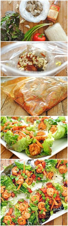 These Spicy Asian Shrimp Lettuce Cups pack a delicious kick and are the perfect fresh appetizer or light dinner. Fish Recipes, Seafood Recipes, Paleo Recipes, Asian Recipes, Cooking Recipes, Fun Cooking, Asian Shrimp, Lettuce Cups, Shrimp Lettuce Wraps