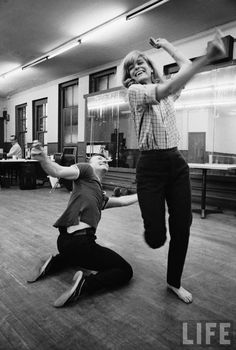 "Melina Mercouri in rehearsal for ""Illya Darling"" on Broadway, 1966. Photo by Henry Groskinsky"
