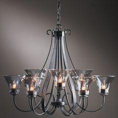 water glass chandelier - Google Search