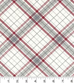 Snuggle Flannel Fabric-Riley Plaid