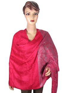 Pashmina Wrap Shawl Gorgeous Dark Pink Floral Paisley Print Reversible Jamawar Scraf Stole for Women Mogul Interior, http://www.amazon.com/dp/B009FU0DZI/ref=cm_sw_r_pi_dp_SOcyqb0M7X2RV$39.99