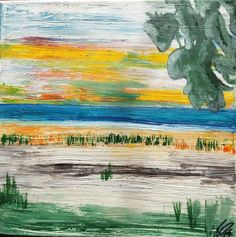 Landschaft ohne Namen Öl auf Leinwand ( Originalbild) 30 x 30 cm | KunstiX