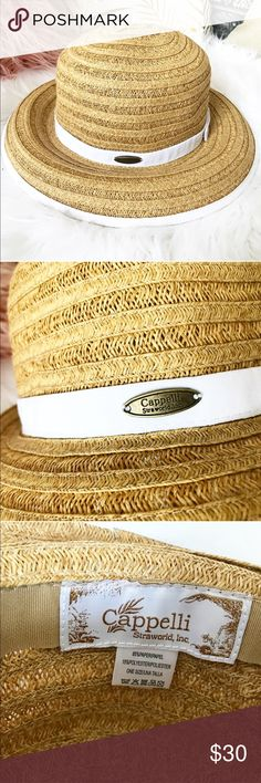 Classic Boater Hat from nantucket. Cute hat! Purchased from Murrays of Nantucket. Authentic Cappelli, worn once in perfect condition! T. Cappelli Accessories Hats