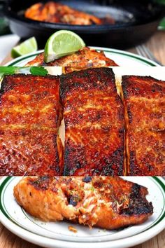 This Honey glazed salmon recipe is the simplest way to make easy and delicious salmon recipe. It takes less time to make and it is a great easy dinner recipe. My family used to hate salmon until they tried my salmon recipe. Now salmon is one of their best Delicious Salmon Recipes, Baked Salmon Recipes, Healthy Recipes, Recipes For Salmon Fillets, Recipe For Grilled Salmon, Salmon With Skin Recipes, Salmon Recipe Videos, Grilled Salmon Recipes, Chicken Recipes