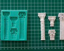 Persian Columns Silicone Mould- cake decorating fondant / fimo mold