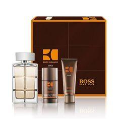 Set de #Hugo #Boss perfecto para #regalo. Contiene el #perfume Hugo Boss Orange para #hombre junto con un gel y un desodorante.