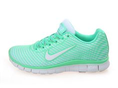 Get Nice Nike Free 5.0 on Sale Green White Beautiful Running Shoes with Free Shipping