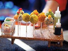 Sushi pops at Qsine.