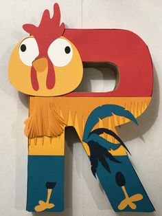 Disney Moana Hei Hei Birthday Party Table Paper Mache Letters by MyLittleOnlineCorner on Etsy https://www.etsy.com/listing/510771871/disney-moana-hei-hei-birthday-party