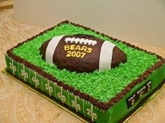 Football Cake on Cake Central . Best Picture For Football Cake for boys For Your Taste You are loo Football Cakes For Boys, Football Themes, Football Shirts, Football Humor, Football Birthday Cakes, Football Field Cake, Football Themed Cakes, Football Desserts, Texans Football