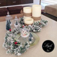 Christmas in the table , centro de mesa , arreglo navideño