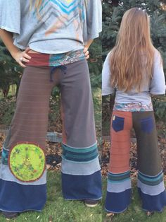 Patchwork Eco Gaucho PANTS Size S.Meco clothing patchwork by zasra