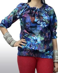 Attractive Multi-Coloured Cotton Tunic Top On 23% OFF + FREE SHIPPING IN ALL OVER INDIA | GOSSIP FASHION  ( Gossip :) COD also available for this product. )