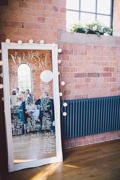 DIY mirror wedding table plan