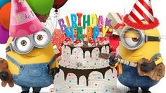 Happy Birthday Song Minions-Baby Songs and Kids Songs-Nursery Rhymes for. Happy Bday Song, Happy Birthday Song Youtube, Happy Birthday Music, Birthday Songs, Happy Birthday Images, Birthday Messages, Birthday Funnies, Minions Happy Birthday Song, Funny Happy Birthday Greetings