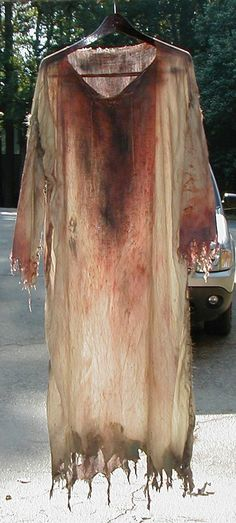 Tutorial for Distressed Zombie Clothing. #Zombies
