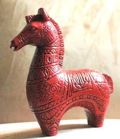 Mid century Aitch 1966 Porcelain Red Horse