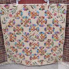 This is the quilt I finished this morning. It is one of my own made