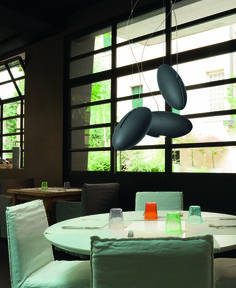 Peanut design by Oriano Favaretto | Suspended lamp in ash wood | #light4 #design #lamp