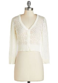 Cream of the Cropped Cardigan, #ModCloth