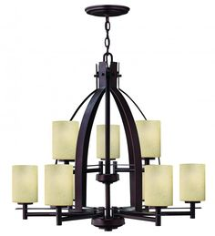 Nine Light Metro Copper Up Chandelier : 4728MC | Southern Lights