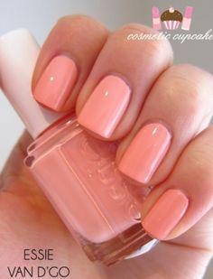 Essie Van D'Go - a pretty pastel neon peach hue