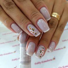 Frensh Nails, Pretty Nail Art, Minimalist Nails, Gel Nail Designs, Pedicure, Hair Beauty, Jelsa, Nail Art Designs, Elegant Nails