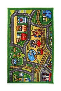 "Every little boy loves his cars. This is more than a rug, it's a road map too. Turn his floor into a race track. Measuring class=""pdpDescContent""><BR /><b class=""pdpDesc"">Dimensions:</b><BR cm</div>"