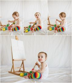 cake smash alternative one year photos first birthday session www.rebeccalaurel… cake smash alternative one year photos first birthday session www. 1st Birthday Balloons, Tangled Birthday Party, Birthday Bash, One Year Birthday, Boy First Birthday, Smash The Paint, Birthday Painting, Baby Fruit, First Year Photos