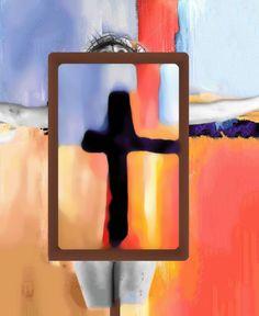 """Weg der Kreuze Das Grundbild ist ein Bild aus der Serien """"Frau am Kreuz"""". Die Frau ist jedoch kaum zu sehen. Nur ich weiß, dass es sich um eine Frau handelt. Ich habe das Ursprungsbild teilweise bedeckt mit einem weiteren Kreuzbild. Ein einfaches Kreuz mit durchscheinenden Hintergrund. Das Kreuz durchdringt. Alles. Candle Sconces, Wall Lights, Candles, Home Decor, Crosses, Woman, Art, Photo Illustration, Homemade Home Decor"""
