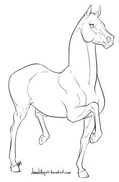 Racking Horse Lineart by AmandaRaquel.deviantart.com on @deviantART