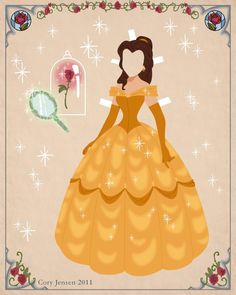 Belle Paper doll | Disney's Beauty and the Beast Printables, Coloring Pages and Activities | SKGaleana