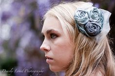 rolled rosette headpiece