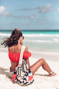 One of my favorite beaches of all time and favorite travel spots is Tulum Mexico - prettiest blue waters and white super soft sand Viva Luxury, Travel Clothes Women, Travel Outfits, Summer Outfits For Teens, Beach Portraits, Tulum Mexico, Girl Fashion, Womens Fashion, Beach Fashion