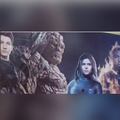 Here is a 1st LOOK at the Brand NEW !!! Movie banner from Fantastic Four with a close up of The Thing.