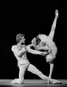 Suzanne Farrell and Peter Martins in the Diamonds pas de deux from George Balanchine's Jewels.