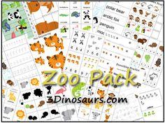 Free Zoo preschool Printable Pack
