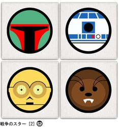 Star Wars Carachters Pop Art Style.