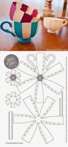 Ya podéis invitar a vuestros amigos a tomar el té. Con estas originales tazas de papel quedarán impactados Enlace: http://www.nexttonic...
