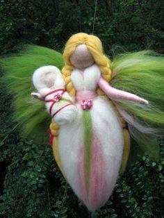 Nadel Filz wolle Märchen mit einem Baby Waldorf von LivelySheep