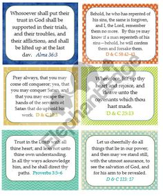 Ponderize 52 verses printed on cardstock //one year of scriptures to memorize / personal, missionary, family