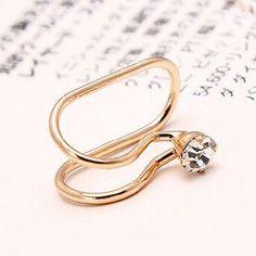 Rhinestone Flowers Star Heart Clip Earrings