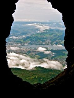Inside the caves of the Swiss Alp, Lucerne, Switzerland
