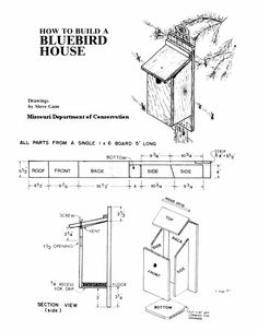 Pdf plans birdhouse plans for bluebirds download grinder for Song bird house plans