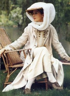 Linen duster and dress.