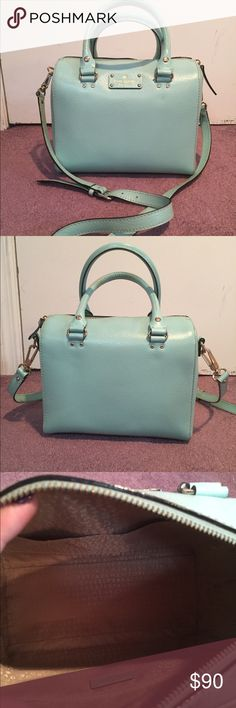 Kate Spade New York Shoulder Bag Some shaped with a ton of room inside, one zipper pocket inside and two side pockets on the inside. Comes with an attachable shoulder strap. kate spade Bags Shoulder Bags
