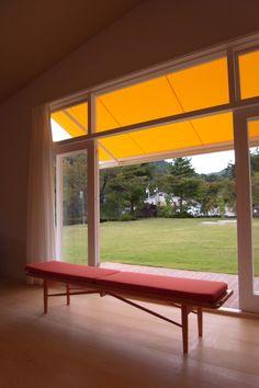 Finn Juhl's house. Bench with folding cushion