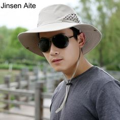New Arrival Fashion Men Professional Outdoor Hiking Cap Men's Sunbonnet Beach Sun Hat Casual Breathable Folding Fishing Hat 1827 olta fishing quote ** AliExpress Affiliate's Pin. Find similar products by clicking the VISIT button