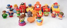 Fisher Price Little People Lot Superman Green Lantern Cars Elf Reindeer Animals #FisherPrice